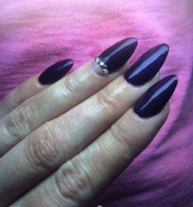 Наращивание ногтей+гель лак💅