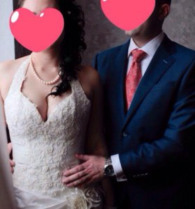 Свадебное платье+туфли+бокалы+букет-дублер