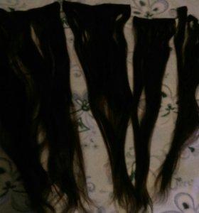 Волосы натуральные 999 на заколках