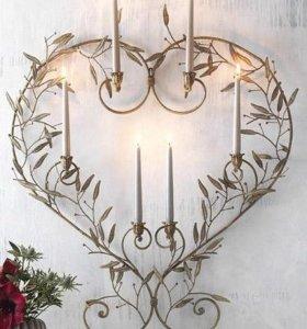 Металлические украшения на свадьбу
