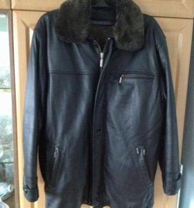Куртка кожаная (зима-осень)