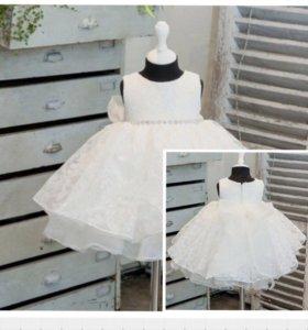 Необыкновенное белоснежное платье на малышку 3 лет