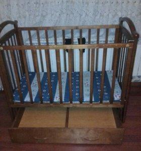 детская кровать с какосовым матрацем