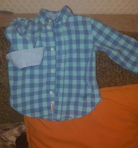 Рубашки брендовые 90-98