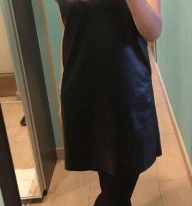 Кожаное платье-комбинация