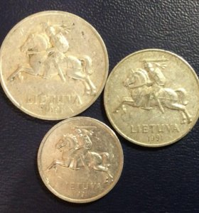 Комплект монет Литвы 1991 года