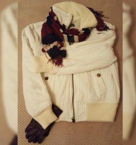 Вельветовая утепленая куртка,Terranovа, размер M