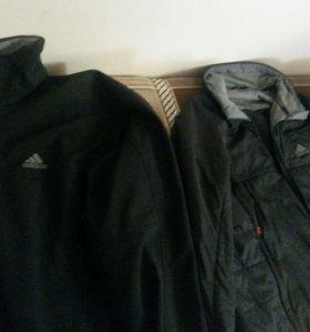 Куртка двойная адидас (adidas) original
