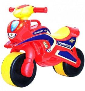 Мотоцикл беговел детский (новый)