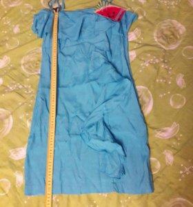 Новое платье 38-40 размер голубое