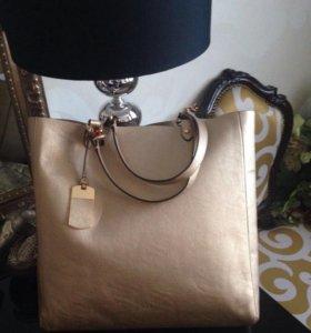 Кожаная сумка Ralph Lauren.Новая.