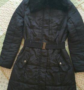 Пальто с мехом кролика