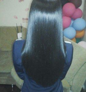 Нанопластика волос,кератиновое выпрямление,Ботокс