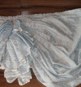 Шторы из ткани жатка с ламбрекеном