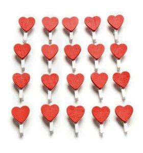 Прищепки мини Сердце