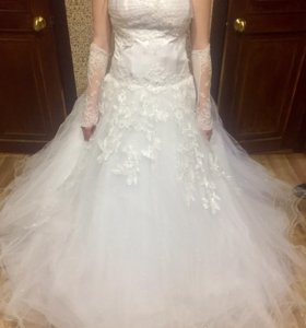 Свадебное платье ручная работа