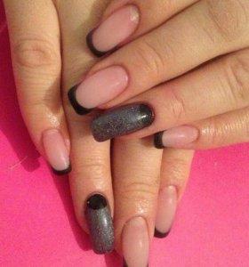 Наращивание ногтей/шеллак