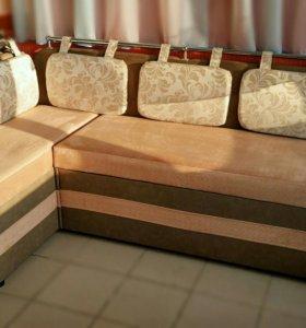 Сприн угловой диван для кухни