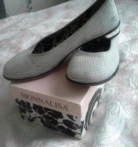 Туфли для девочки, MONNALISA,р.35