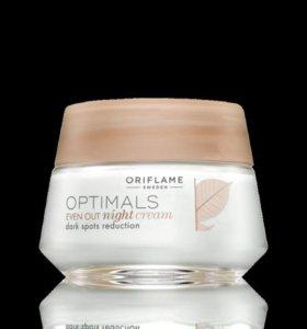 Крем для лица ночной Oriflame выравнивающий тон ко