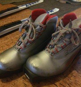 Лыжи и ботинки на 1-4класс