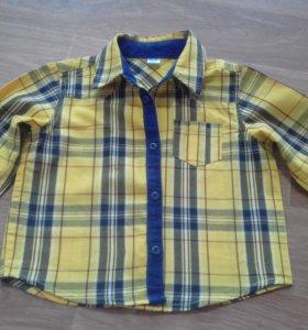 Рубашка на мальчика р.6-12 мес