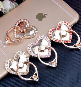 Кольцо держатель для смартфона и планшета сердце