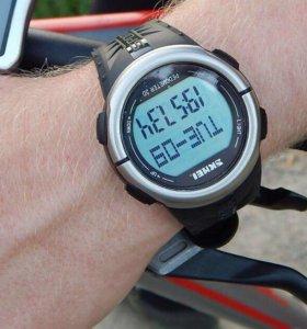 Часы с пульсометром, водостойкие