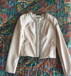 Куртка ЭКО кожа нежно розовая