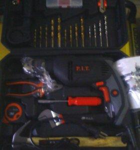 Дрель+набор ручного инструмента