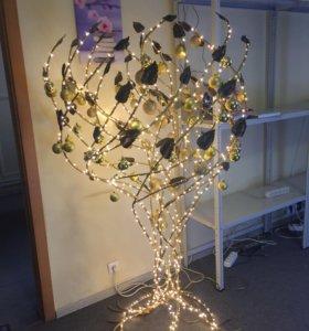 Светодиодная инсталляция дерево