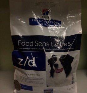 Корм для собак Hills z/d для собак 3 кг
