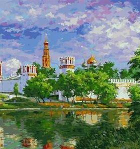 Новодевичий монастырь картина-раскраска