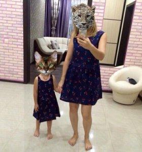 Новые платья family look