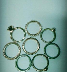 Кольца Позолоченные Посеребрянные
