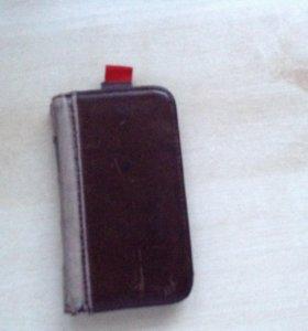 Чехол на lPhone 4 из натуральной кожи