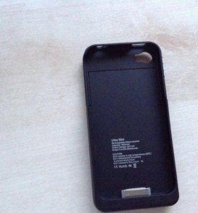 Зарядный чехол на iPhone 4 провод зарядный есть