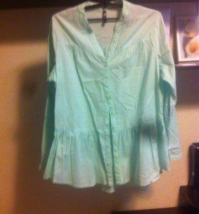 Рубашка-туника р48 цвет мятный