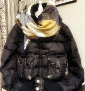 Теплая куртка, мех натуральный