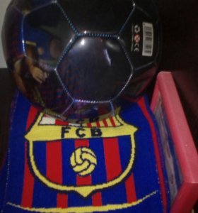 Сувенирные мячи с шарфами,Рома, Барса и Аякс