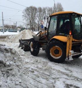 Уборка и Вывоз Снега Экскаватор Погрузчик