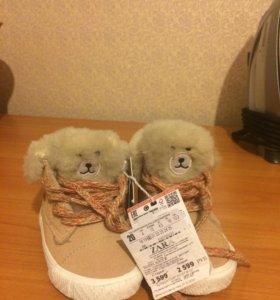Новые ботинки Zara 20 размер