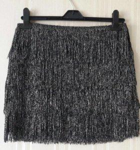Новая Нарядная юбка С бахромой