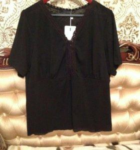 блузка чёрная ,размер 52-56