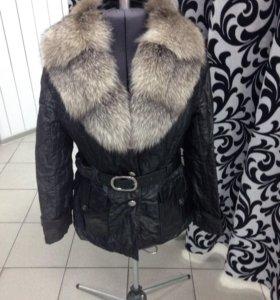 Куртка с мехом (весна - осень)