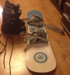 Комплект сноуборд с креплениями