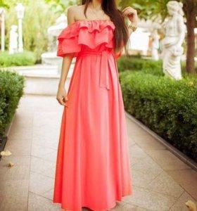 Новое платье в пол ,размер 44-50