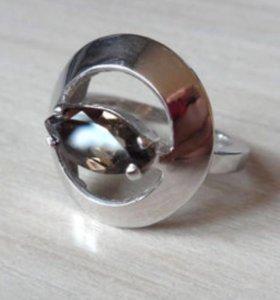 Кольцо с раухтопазом серебро 925 размер 16