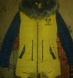 Куртка зимняя на девочку размер 40