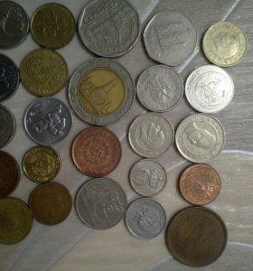 Монеты иностранные. 24 шт.
